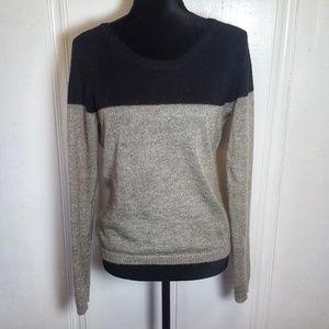 Maison Scotch Wool Colorblock Slouch Sweater